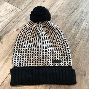Coach Knit Hat With Pom Pom (Black and White) NWT